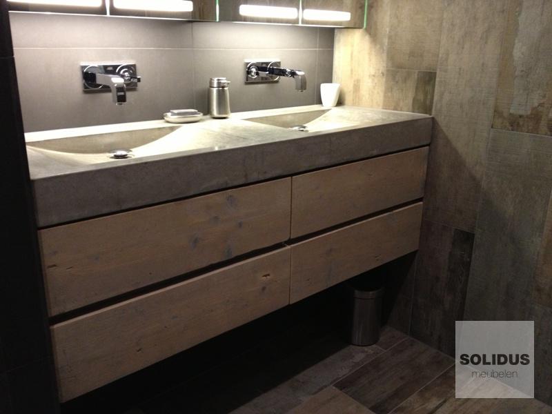 Lavabo voor badkamer lavabo voor badkamer ronde witte metalen dia 50cm 32 cm diep te lavabo - Meubilair vormgeving van de badkamer dubbele wastafel ...